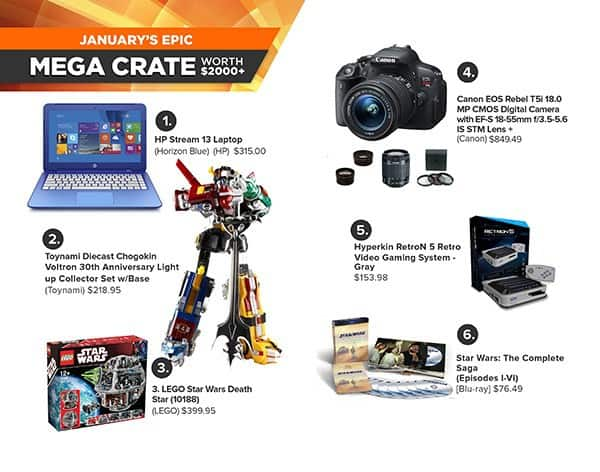 January 2015 Loot Crate Mega Crate