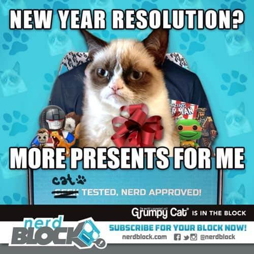 January 2015 Nerd Block Classic Box Spoiler - Grumpy Cat