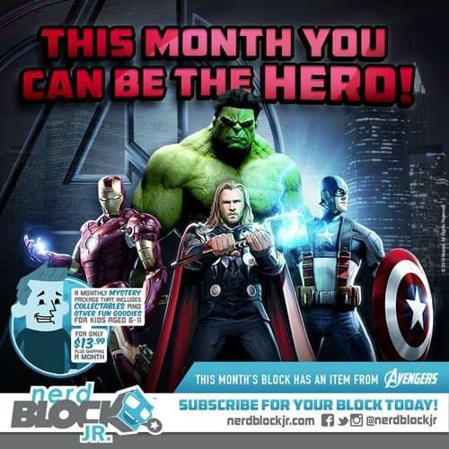 January 2015 Nerd Block Jr. Boys Block Box Spoiler - Avengers