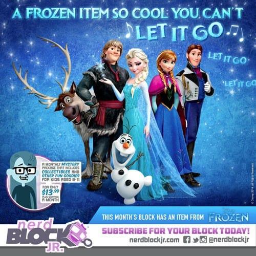 January 2015 Nerd Block Jr. Girls Block Box Spoiler - Frozen