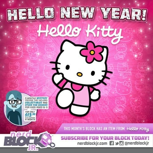 January 2015 Nerd Block Jr. Girls Block Box Spoiler - Hello Kitty
