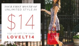 Get Your First Month of LE TOTE for Just $14 with Code LOVELT14