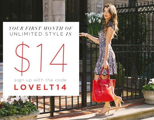 LE TOTE 1st Month for $14