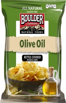 Love With Food February 2015 Box Spoiler - Boulder Canyon Olive Oil Kettle Cooked Potato Chips