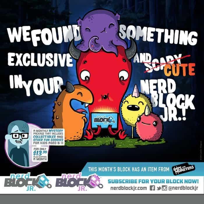 Nerd Block Jr. February 2015 Box Spoilers - Imps and Monsters