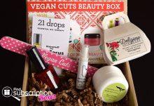 Vegan Cuts Beauty Box December 2014 Box Review - Box Contents