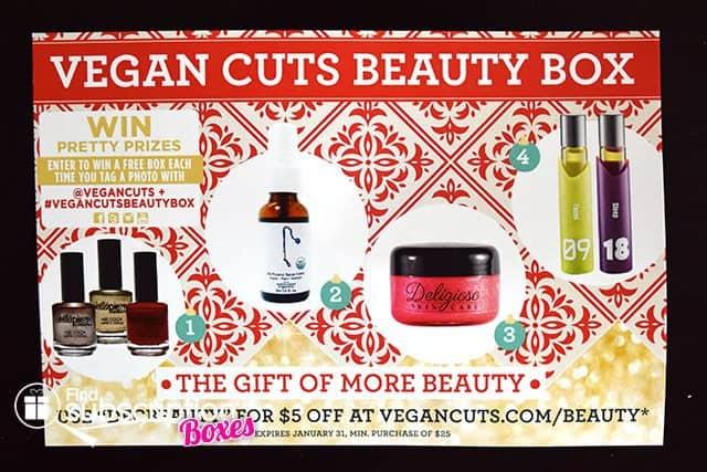 Vegan Cuts Beauty Box December 2014 Box Review - Product Card