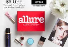 Save $5 Off Allure Sample Society