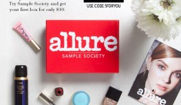 Get Your 1st Allure Sample Society Beauty Box for Just $10 with Code 5FORYOU