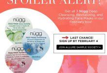 Allure Sample Society February 2015 Box Spoiler - Nugg