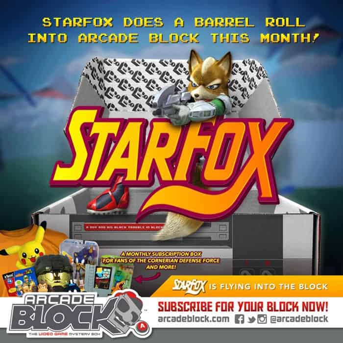 Arcade Block February 2015 Box Spoiler - Starfox