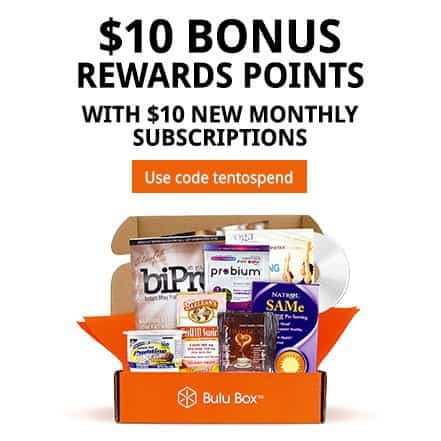 Bulu Box $10 Bonus Rewards Points