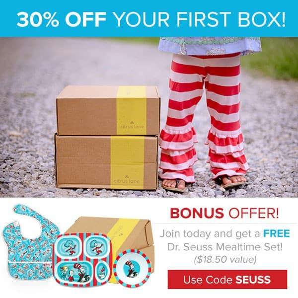 Citrus Lane 30% Off + FREE Dr. Seuse Gift Coupon