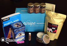 Escape Monthly January 2015 Portland Box Review - Box Contents