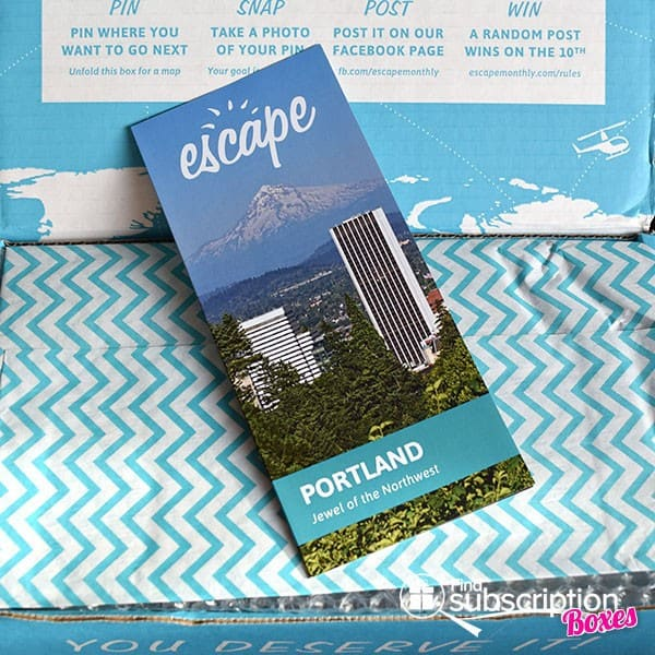 Escape Monthly January 2015 Portland Box Review - Product Brochure