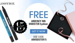 FREE Ardency Inn Modster Eyeliner with New GLOSSYBOX Subscriptions with Code AIMODSTER15