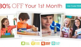 Save 30% Off PLUS Get FREE Shipping on Your 1st Month of New Kiwi Crate Family Subscriptions with Code FEB30