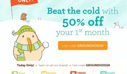 2/2 Only! Save 50% Off Your 1st Month of Koala Crate, Kiwi Crate, Tinker Crate or Doodle Crate with Code GROUNDHOG50