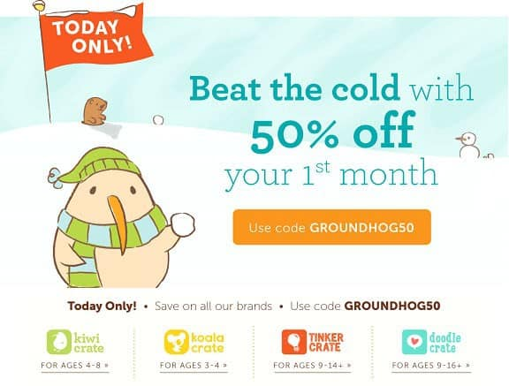 Save 50% Off 1st Month of Kiwi Crate Family
