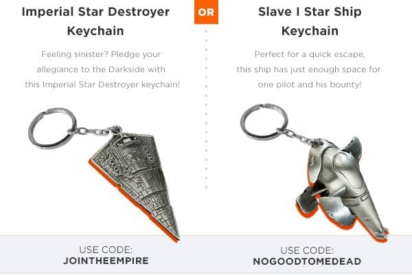 Loot Crate Free Bonus Gift - Keychains