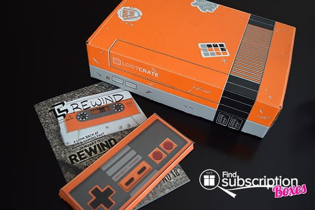 Loot Crate January 2015 Rewind Crate Box Review - Box Scene