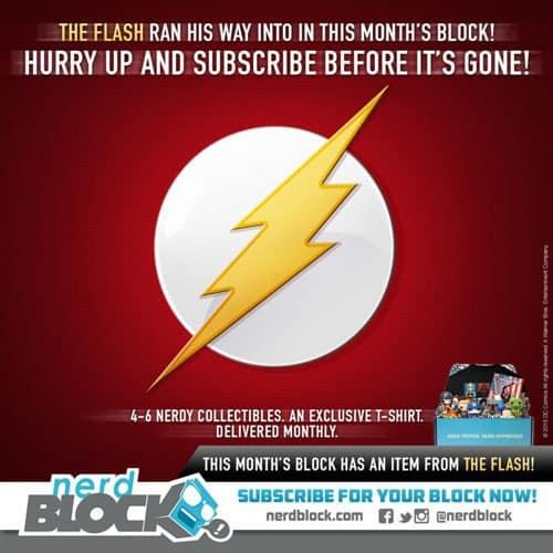 Nerd Block February 2015 Box Spoiler - The Flash