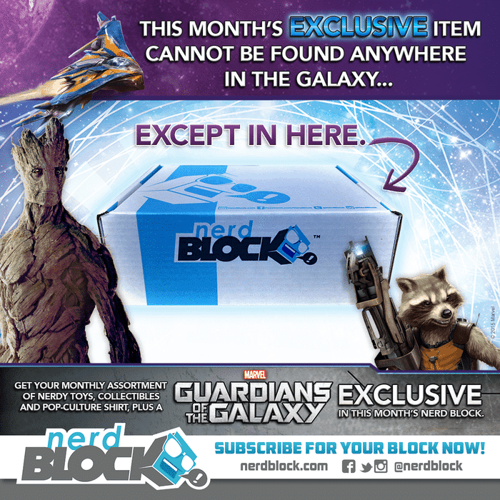 Nerd Block March 2015 Box Spoiler - Marvel, Exclusive Dancing Baby Groot