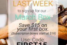 Orange Glad $15 Off March Box Coupon