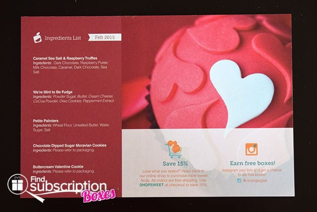 Orange Glad February 2015 Box Review - Product Card