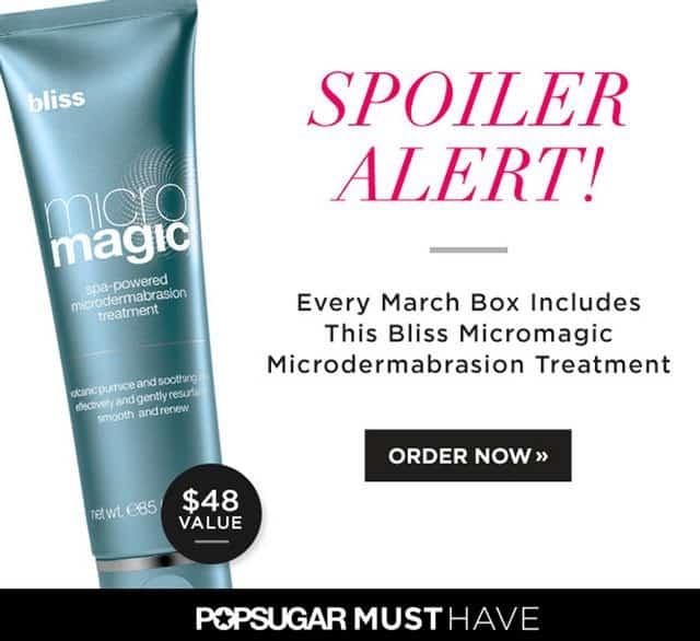 POPSUGAR March 2015 Must Have Box Spoiler - Bliss Micro Magic Treatment