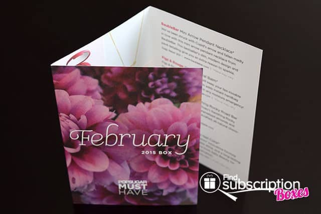 POPSUGAR Must Have February 2015 Box Review - Product Flyer
