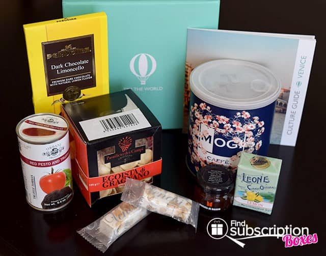 Try The World February 2015 Venice Box Review - Box Contents