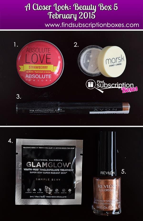 Beauty Box 5 February 2015 Box Review - Inside the Box