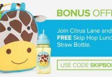 Citrus Lane Skip Hop Straw Bottle