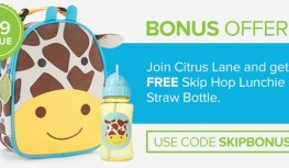Get a FREE Skip Hop Lunchie and Straw Bottle with New Citrus Lane Subscriptions with Code SKIPBONUS