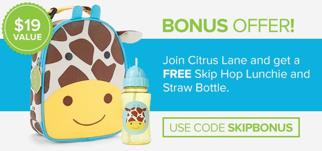Citrus Lane Skip Hop Straw Bottle