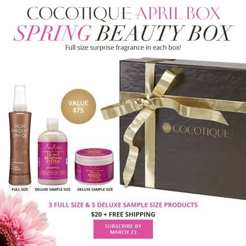 COCOTIQUE April 2015 box spoilers - full size fragrance