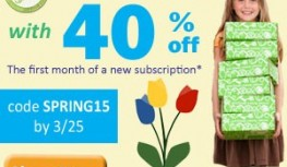 Save 40% Off Your 1st Month of Green Kid Crafts with Code SPRING15
