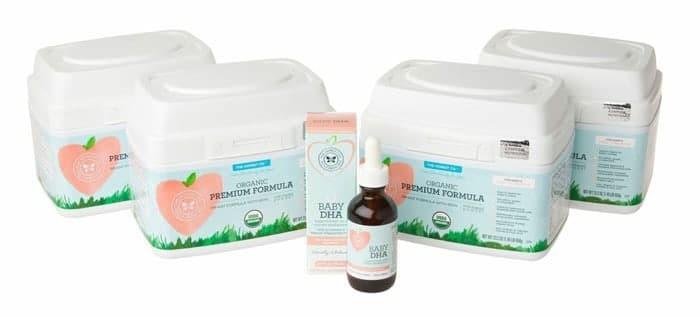 Honest organic infant formula + dha bundle