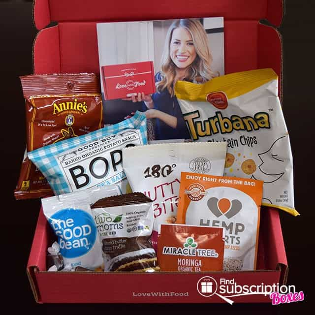 Love With Food March 2015 Tasting Box Review - Box Contents