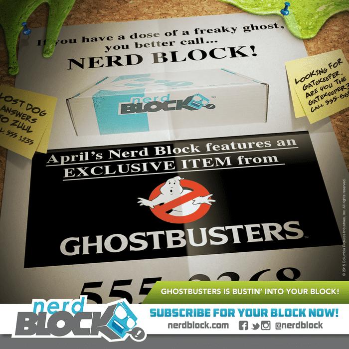 Nerd Block April 2015 Box Spoiler - Ghostbuxters