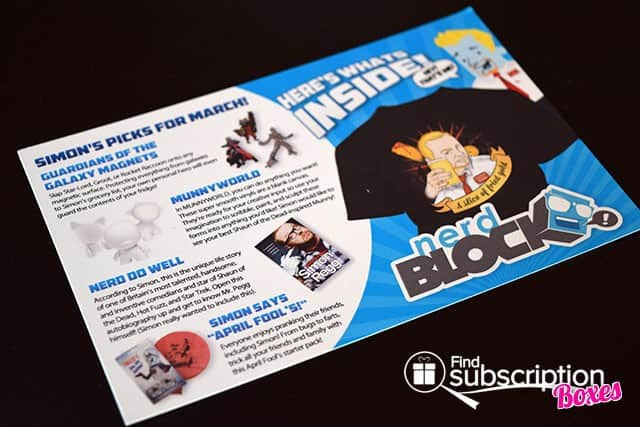 Nerd Block March 2015 Box Review - Product Card