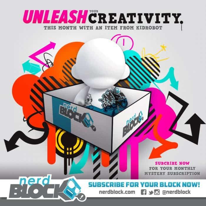 Nerd Block March 2015 Box Spoiler - Kid Robot