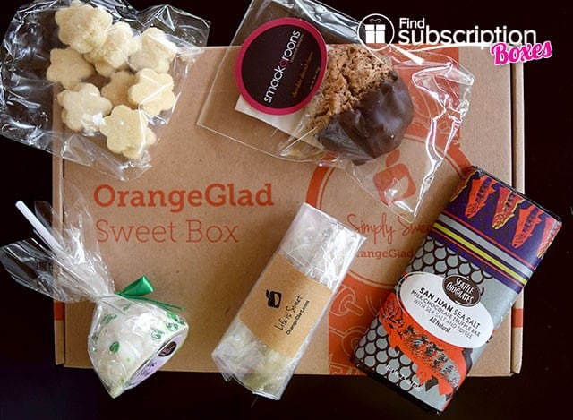 Orange Glad March 2015 Sweet Box Review - Box Contents