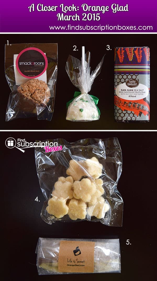 Orange Glad March 2015 Sweet Box Review - Inside the Box