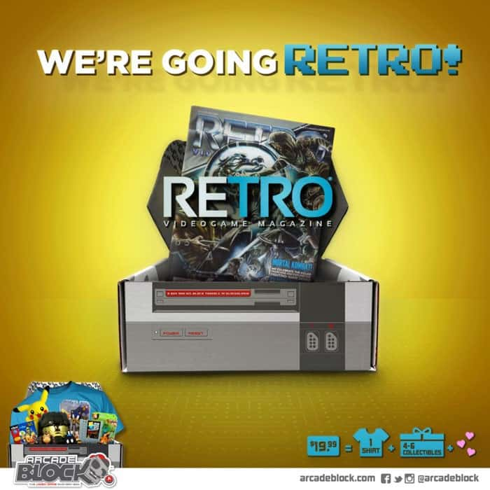 Arcade Block April 2015 Box Spoiler - Retro Magazine