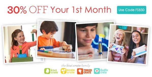 Join Kiwi Crate Today and Save 30% On Your 1st Month Subscription