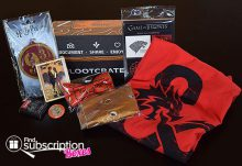 Loot Crate April 2015 Box Review - Fantasy Crate - Box Contents