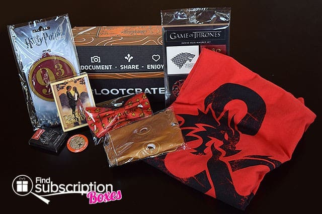 Loot Crate April 2015 Box Review - Fantasy Crate - Box Contents