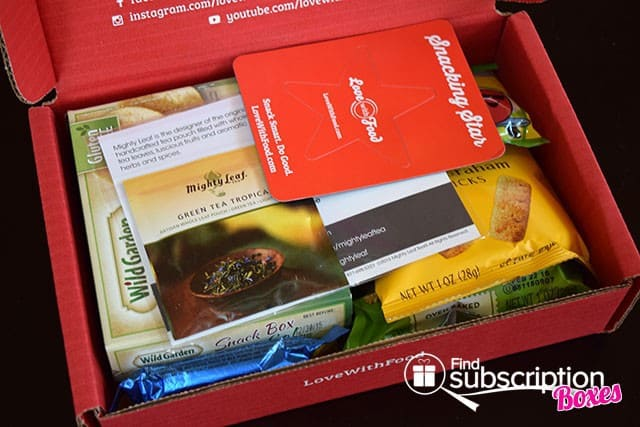 Love With Food April 2015 Tasting Box Review - First Look